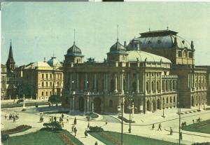 Croatia Zagreb Hrvatsko Narodno kazaliste 1962 used Postcard