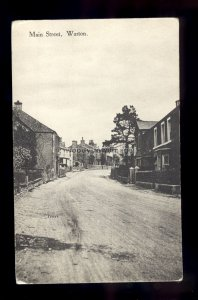 TQ3213 - Lancs - An early view, unmade Main Street in Warton Village - postcard