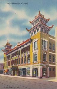 Illinois Chicago Scene IOn Chinatown Curteich