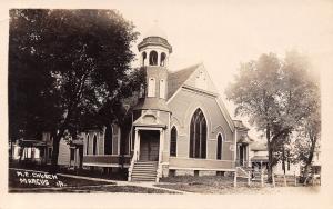 Marcus Iowa~Methodist Episcopal Church~Neighboring Houses~Gain lb Day~1912 RPPC