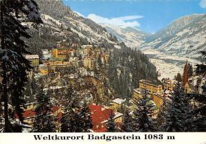 Weltkurort Badgastein Wintersportplatz Talblick Panoramic view