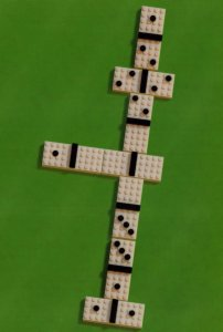 Dominoes Board Game Childrens Toy Lego Model Display Postcard