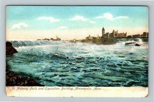 Minneapolis MN-Minnesota, St Anthony Falls, Exposition Building Vintage Postcard