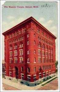 MI - Masonic Temple, Detroit  (corners damaged)