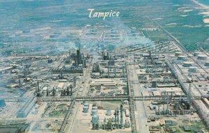 Petroleum Refineries Petrol Oil Tampico Aerial 1960s Mexican Mexico Postcard
