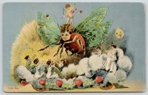 Kansas City Fantasy~POP Priests of Pallas Parade~Cupid Rides Love Bug~Moon~1910