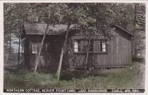 Wisconsin Cable Lake Namakagon Northern Cottage Beaver Point Camp 1953 Real P...