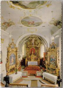 Lech am Arlberg 1450 m, Parish Church of St. Nicholas, Interior, used Postcard