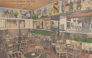 LOS ANGELES, California, 1930-40s; Alexandria Hotel, Pompeian Bar & Cocktail ...