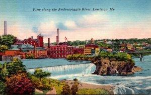 Maine Lewiston View Along Androscoggin River