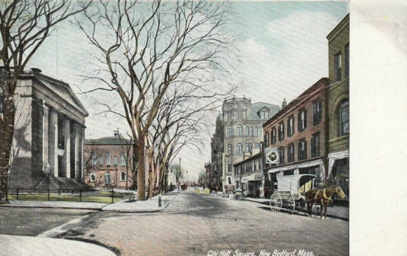 NEW BEDFORD , Mass. , 1900-10s ; City Hall Square
