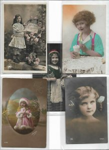 Jugendstil Cute Kids Theme RPPC Postcard Lot of 10 01.11