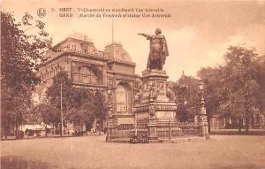 Gand Belgium, Belgique, Belgie, Belgien Marche du Vendredi et Statue Van Arte...