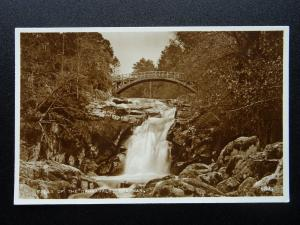 Scotland BRAEMAR Falls of the Garrawalt c1930's RP Postcard by Valentine
