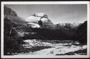 Montana Sun Mountain from LOGAN PASS Glacier National Park - RPPC