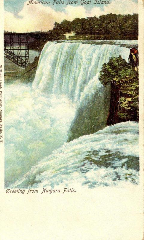 NY - Niagara Falls from Goat Island. (Private Mailing Card)