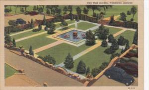 Indiana Hammond City Hall Garden 1952 Curteich