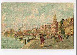 3058481 ITALY Venezia Riva Schiavani by Mernegazzi lithograph