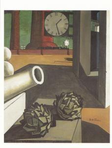 Giorgio De Chirico The Philosophers Conquest 1914 WW1 Clock Painting Postcard