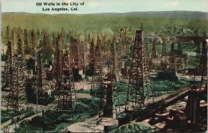 Oil Wells Los Angeles CA California Postcard E46 UNUSED