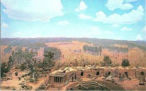 Diorama Series No. 4 Mesa Verde National Park Oversize GIANT Vintage Postcard