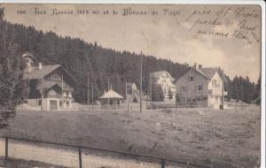 Switzerland, Suisse, Les Rasses 1174m, et le Bureau de Poste, early 1900s used