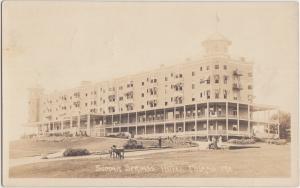 Maine Me Real Photo RPPC Postcard 1918 POLAND Summit Springs Hotel People