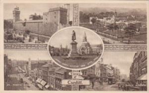 Waales Views Of Cardiff Castle St Mary's Street University Queen Street City ...