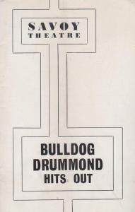Bulldog Drummond Hits Out Judy Campbell Savoy Drama London Theatre  Programme