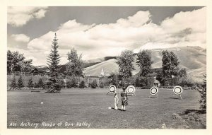 LP15  California RPPC  Postcard Archery Range at Sun Valley Sports