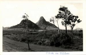 mauritius, MOKA, Piton du Milieu Mountain (1950s) RPPC