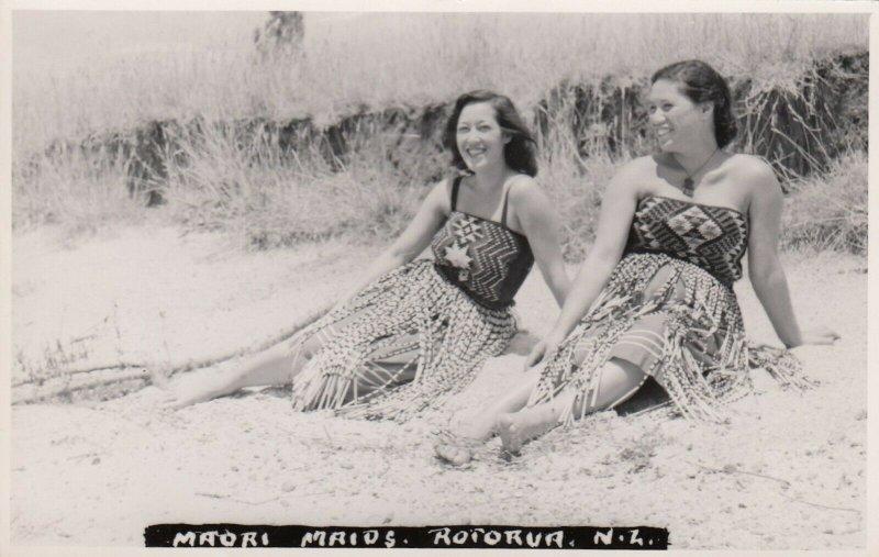 RP: Maori Maids , Rotorua , New Zealand , 1930s