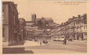 Liege - Boulevard d la Sauveniere et l'Eglise St. Martin, Belgium,10-20s