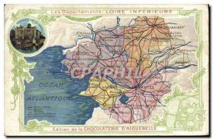 Postcard Old MAPS Chocolaterie d & # 39Aiguebelle Inferieure Loire Clisson