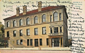 RALEIGH NC~OLIVIA RANEY LIBRARY~1906 TUCK SERIES 5873 POSTCARD