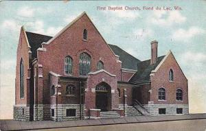 First Baptist Church, Fond Du Lac, Wisconsin, PU-1908