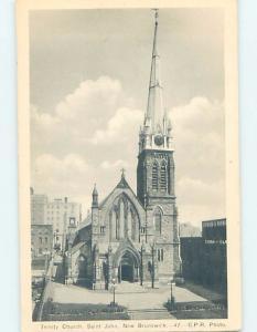 W-Border CHURCH SCENE St. John New Brunswick NB A9646