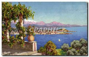 Antibes - La Cote d & # 39Azur - Old Postcard