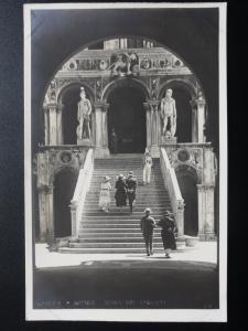 Italy: VENEZIA / Venice DUGOLE SCALD DEI GIGANTI - Old Real Photograph Postcard