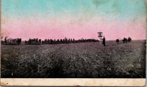 Moline Illinois Plow Co~Minneapolis~Monitor Drill in Field~Horse Teams Pull~1910