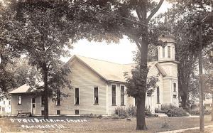 Princeville Illinois~Presbyterian Church~Folding Table by Back Door~1920s RPPC
