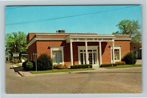 Columbia MS-Mississippi First Federal Savings & Loan Association Chrome Postcard