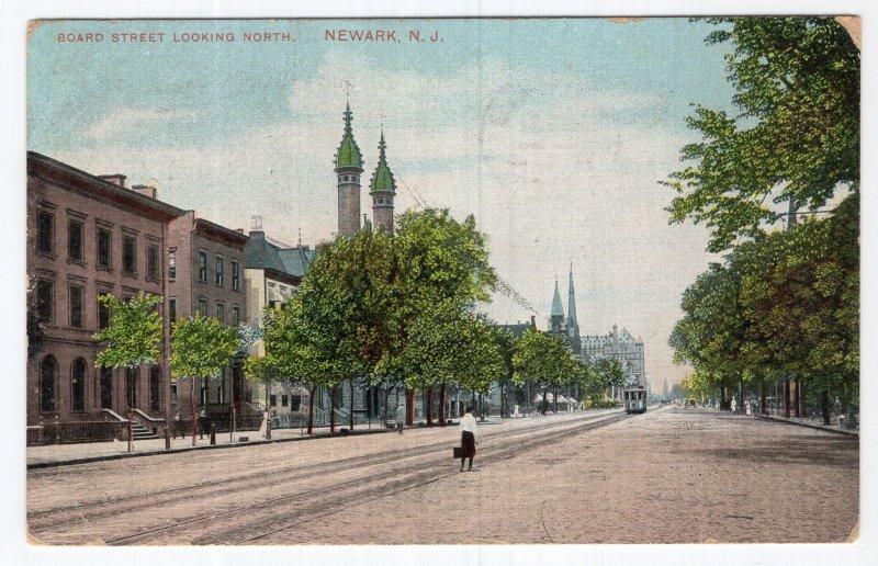 Newark, N.J., Board Street Looking North