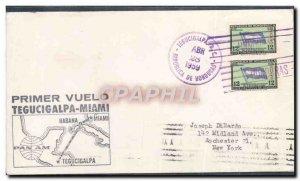 1 Letter Flight Honduras Tegucigalpa Miami April 28, 1959