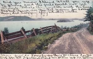 A View Of Canandaragea Lake Rochester New York 1908