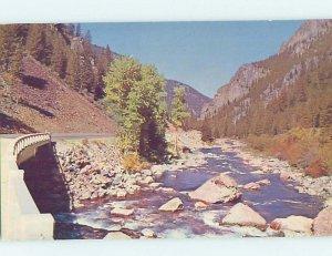 Pre-1980 BRIDGE SCENE Bozeman Montana MT AD6419