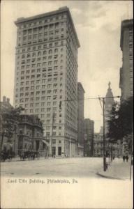 Philadelphia PA Land Title Bldg & Street c1905 Postcard