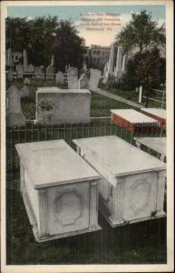Richmond VA Grave of John Marshall Cemetery c1920 Postcard