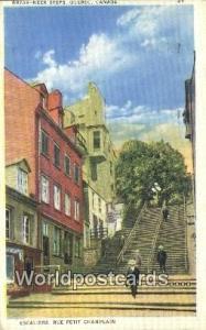 Quebec Canada, du Canada Break Neck Steps, Escaliers, Rue Petit Champlain  Br...