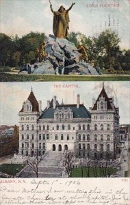 Kings Fountain The Capitol Albany New York 1906